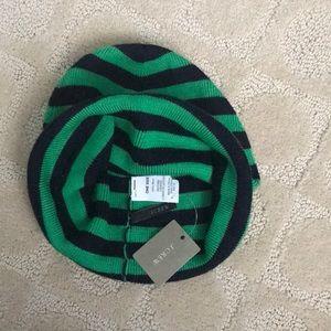 J. Crew Accessories - J.Crew navy  green winter hat ef53047379f9